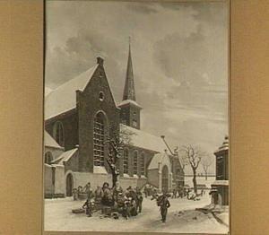 Gezicht op de Geertekerk te Utrecht