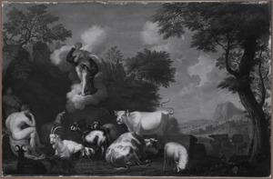Juno stelt  Argus aan als bewaker van de koe Io