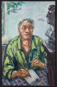 Zelfportret Fiedler, tekenend
