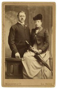 Portret van Gijsbert Carel Duco Reinout van Hardenbroek en Coenradina Carolina Theodora de Pesters van Cattenbroek