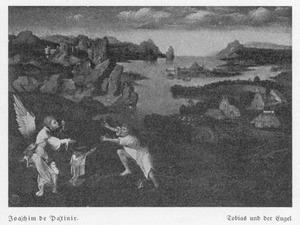 Wanneer Tobias zijn voeten wast in de Tigris verschijnt er een grote vis; Tobias haast zich verschrikt naar de oever