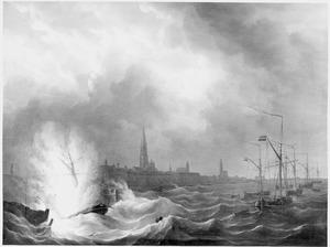 """Exploderen van Zr. Ms. """"Kanonneerboot No 2"""", 1831"""
