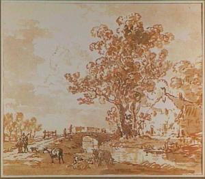 Landschap in de omgeving van Dordrecht