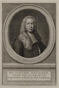 Portret van Pieter Rendorp (1703-1760)