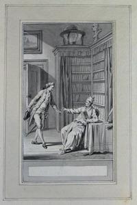 Illustratie bij 'Het goede bezoek' uit de Fabelen en vertelsels van F.C. Gellert