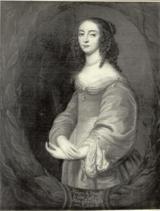 Portret van Claire-Marie de Nassau-Siegen. Princes de Ligne (1621-1695)