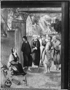 Christus in gesprek met een vrouw