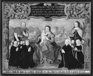 Memorietafel van Pieter van der Vecht (....-1574), Beatrijs de Raet (....-1559) en familie