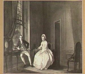 Portret van Jan Nomsz en zijn vrouw