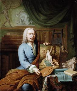 Zelfportret van Frans van Mieris II (1689-1763)
