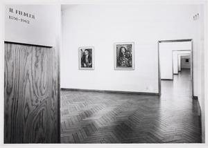 Overzichtstentoonstelling van Herbert Fiedler in het Stedelijk Museum ter ere van zijn 70ste verjaardag, septmeber-oktober 1962