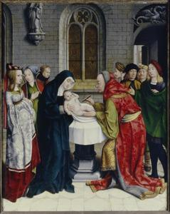 De besnijdenis van Christus (Lucas 2:21)