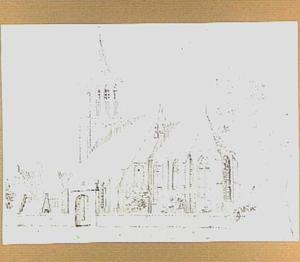 De hervormde kerk te Lienden, gezien vanuit het zuidoosten