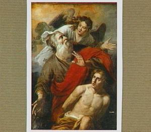 Het offer van Isaak: Een engel weerhoudt Abraham om Isaak te offeren (Genesis 22:10-12)