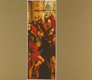 De kruisdraging (op de buitenzijde: de H. Joris en de draak)