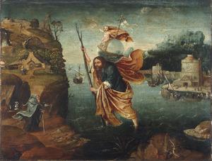 De H. Christoforus draagt Christus over een rivier