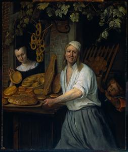 Dubbelportret van Arent van Oostwaert (....-1695) en Catharina van Keijserswaert (....-1676)