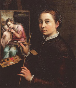 Zelfportret achter de schildersezel