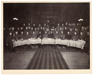 Portret van een groep militairen