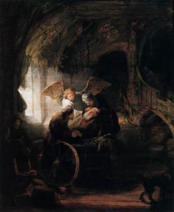 Tobias geneest zijn vader Tobit van blindheid