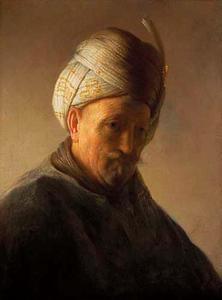 Borststuk van een man met een tulband