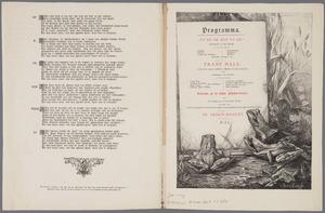 Progamma voor het Sint-Lucasfeest, 2 februari 1884