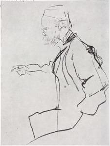 Portret van de schrijver Paul Verlaine (1844-1896)