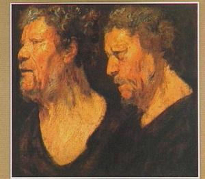Twee portretstudies voor het hoofd van Abraham Grapheus (?-1624)