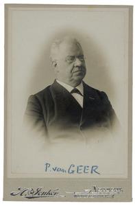 Portret van Pieter van Geer (1841-1919)