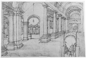 Interieur van het Palazzo Farnese te Rome