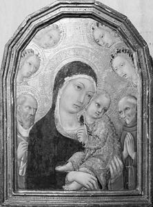 Maria met kind, de heiligen Hiëronymus en Fransiscus van Assisi en vier engelen