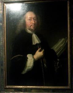 Portret van Adam Olearius (1599-1671), ontdekkingsreiziger, wiskundige en astronoom van hertog Frederik III van Gottorp
