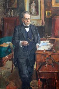 Portret van Dr. Coenraad Kerbert (1849-1927), direkteur van dierentuin Artis