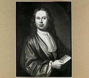 Portret van een man met een brief in zijn hand