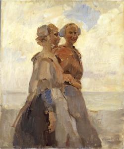 Twee Scheveningse meisjes