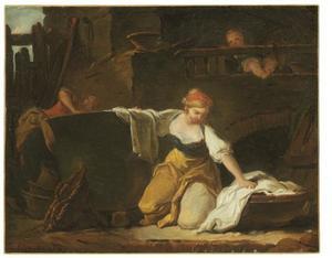 Jonge wasvrouw