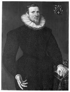 Portret van Frederick Uyttenhage Ruyven (1571-1621) op 32-jarige leeftijd, echtgenoot van Cornelia de Vriese