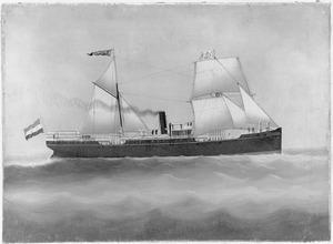 """Stoomschip """"Gouverneur-Generaal 's Jacob"""" van de Nederlandsch-Indische Stoomvaart Maatschappij"""