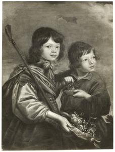 Portret van twee jongens als herder