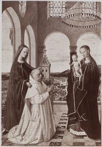 Maria met kind, de H. Barbara en Jan Vos