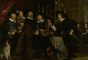 Groepsportret van vier overlieden van de Handboog- of St. Sebastiaandoelen te Amsterdam