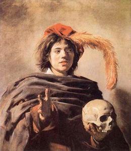 Jongen met een schedel