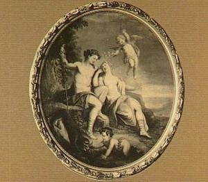 Bacchus en Ariadne als minnaars