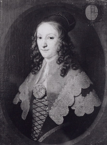 Portret van Louise Therese Sandelin ( -1678)