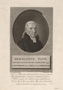 Portret van Hermannus Pauw (1770-1856)