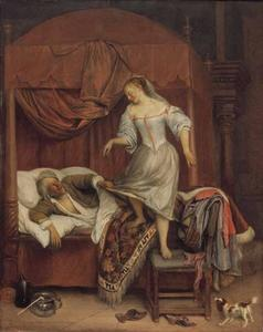 Paar in de slaapkamer