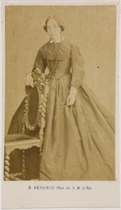 Portret van een vrouw, waarschijnlijk Otteline Agathe van der Staal (1809-1871)