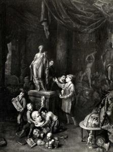 Interieur van een beeldhouwersatelier