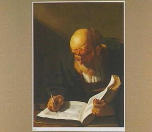 Schrijvende oude man
