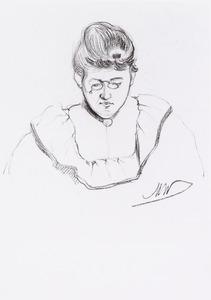 Portret van Johanna Catharina Beijers (1872-1934)